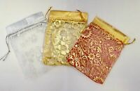 LUXURY Organza Patterned Gift Bags Jewellery Pouches XMAS Wedding Party Candy
