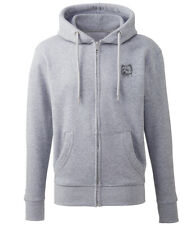 More details for westie west highland terrier clothing gifts embroidered organic full zip hoodie