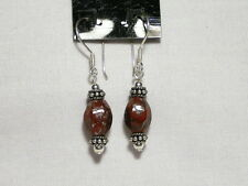 "JASPER earrings.  925 sterling silver hooks ""NEW"" AUZ MADE"