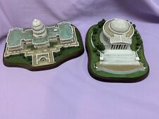 """Danbury Mint """"The United States Capitol"""" Building and Jefferson Memorial! Read!"""