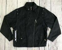 Jamie Sadock 2-n-1 Size Medium Bomber Jacket Vest Black Zip of Sleeves     1627