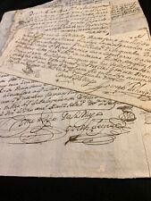 LOT OF FOUR SPANISH MANUSCRIPTS 1700s
