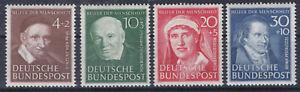 1951 Kabinettsatz Helfer der Menscheit II 143 - 146 Postfrisch ** MNH
