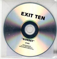 (DG23) Exit Ten, Sunset - 2012 DJ CD