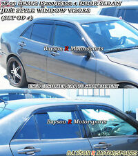 Side Window Rain Guard Visors (Tinted) Fits 98-05 IS200 IS300 4dr