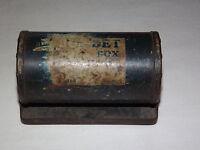VINTAGE OLD 1940S FISHING FRABILL BOB-BET METAL BELT CARRY WORM BAIT BOX