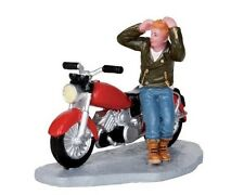 Lemax Carole Towne Christmas Village Road Rebel Motorcycle & Rider Accessories