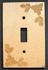 Laser Engraved Pine Cone Single Switch Plate Cover