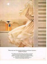 PUBLICITE  1973   LANVIN  pafum ARPEGE
