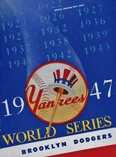 1947 WORLD SERIES PROGRAM PHOTO IN ALL ITS GREAT COLORS YANKEES WIN   8 x10