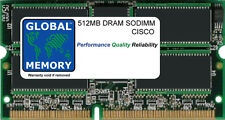 512MB DRAM SODIMM CISCO 7603/6/9/13 ROUTERS & CAT 6500 MSFC2 ( MEM-MSFC2-512MB )