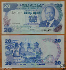 KENYA 20 Shillings Paper Money 1984 UNC