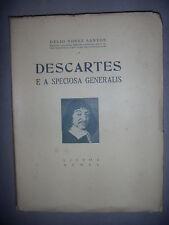 Portugal: Descartes e a speciosa generalis, 1940, envoi, BE