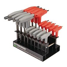 18 Pc SAE & Metric T Handle Allen Wrench Ball End Hex Key Set T-Handle
