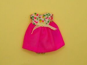 Vintage Barbie Tutti Original Dress #3580 VARIATION Bodice Pink w/ Bow