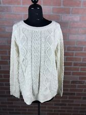 NWT ECRU Obey Sweater Size:Medium Freja Cable Crew 251000051 MSPR:$85