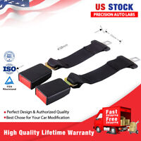 "2× Buckle Universal Car Seat 14"" Seatbelt Safety Extender Belt for Chevy GMC US"