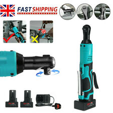 Powerful 28V 85Nm Electric Cordless Right Angle Wrench 3/8'' Ratchet Tool Kit