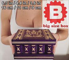 Wood Magic Secret Puzzle Big Box, IQ Brain Teaser, Secret lock, Smart trick Box