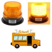 LED Auto Car Warning Light Amber Flashing Strobe Beacon Emergency Light 12V 24V