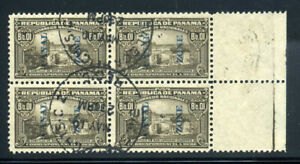 Canal Zone J11C Used Postage Due Overprinted Stamps Block B717 13