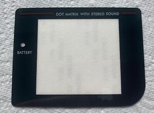 Nintendo Game Boy Play It Loud DMG-01 Black Border Screen Facia Replacement Lens