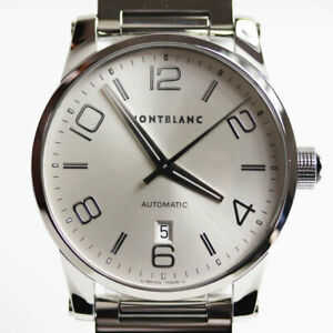 Wristwatch MONTBLANC Timewalker 7070 Men's USED Silver Automatic 42mm Stailess