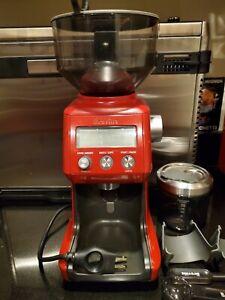 Breville Smart Grinder Pro - Cranberry RED Coffee and Espresso Grinder