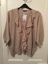 Evans Beige 3/4 Length Sleeved Cardigan Size 26 - 28 (BNWT) Brand NEW With Tag