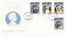 (94841) Isola Di Ascensione FDC Regina Madre LIFE & TIMES 7 GIUGNO 1985 NO INSERTO