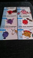 Mr Men And Little Miss Paper Back Books X 6