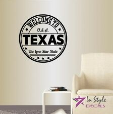 Vinyl Decal Welcome to Texas Lone Star State USA Country Art Wall Sticker 2184