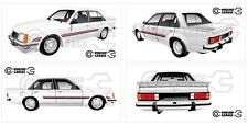New! Collectable VC HDT BROCK Palais White Holden Commodore XXL  Sticker Set