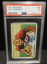 1951 Bowman Football #98 Jack Jennings Chicago Cardinals  PSA 5
