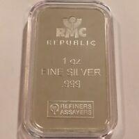 1oz RMC REPUBLIC METALS  .999 FINE SILVER BAR - New Sealed  #3649