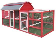 "New 102"" Wood Chicken Coop Backyard Hen House Nesting Box & Run & Cleaning Tray"