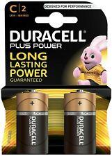 DURACELL PLUS POWER C 2 PACK BATTERIES