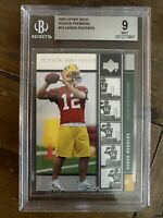 2005 UPPER DECK PREMIERE AARON RODGERS GREEN BAY PACKERS ROOKIE BGS 9