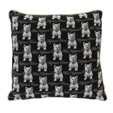 SIGNARE TAPESTRY CUSHION WEST HIGHLAND TERRIER  DOUBLE SIDED WITH PIPED EDGE