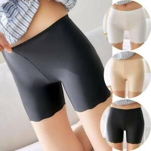Damen Stretch Sicherheitshosen Shorts Leggings Hose für Rock Kleid DE