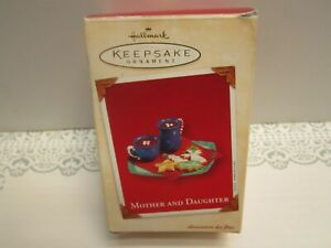 Hallmark Mother And Daughter Keepsake Christmas Clip-On Ornament Dated 2003 NIB