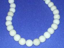 10MM Natural Frosted Fossil Stone Beads Round Spacer Loose Beads About 38pc. NEW