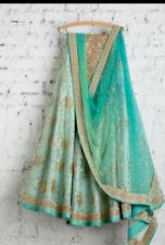 Wedding wear Lehenga choli Design Indian Bollywood skirt dupatta set size L sari