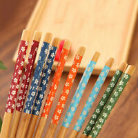 New 1pairs Chinese Vintage Beautiful Various Pattern Classic Wooden Chopstick 3C