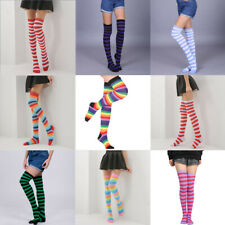 High Socks Womens Stockings Girls The Knee Sheer Striped Over Thigh Plus Size