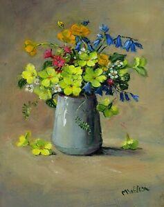 Original Oil Painting   Marjorie Wilson 'April Flowers'