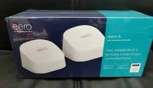 eero 6 Dual-Band Mesh Wi-Fi System 2 Pack BRAND NEW SEALED! MPN M110211