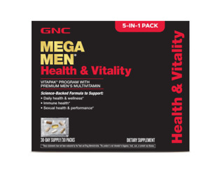 GNC MEN'S HEALTH & VITALITY VITAPAK, 30 DAILY PACKS, 5-IN-1
