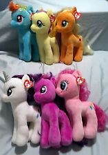 My Little Pony Ty Beanie Buddy set of 6 - UK Exclusives - MWMT - FREE SHIPPING