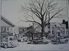 "Robert Treat sketch ""Stratford Grill"" Main St. Stratford,CT. Org. Litho 1960"